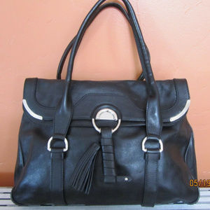 CELINE Large Black Leather Handbag ~NWT~
